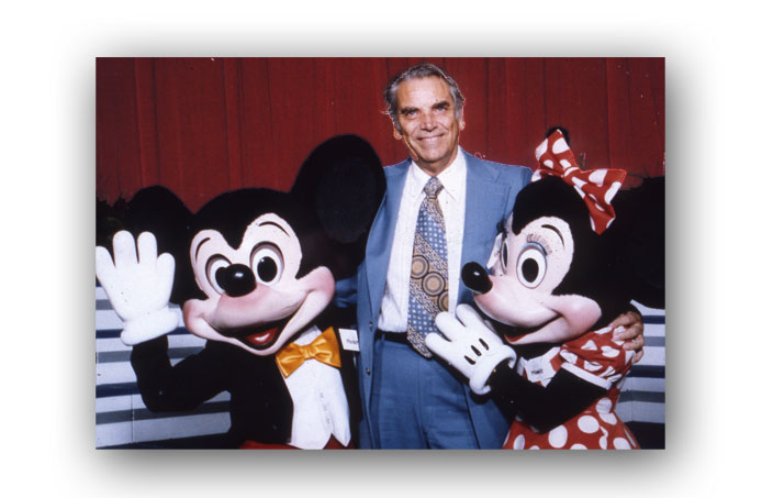 Claude with Mickey and Minnie