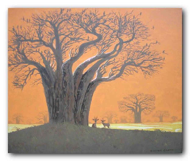BIRDS IN THE BAOBAB TREE